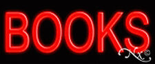 """BRAND NEW """"BOOKS"""" 24x10x3 RED REAL NEON SIGN w/CUSTOM OPTIONS 12021"""