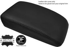BLACK STITCH TOP GRAIN LEATHER ARMREST LID COVER FOR VW GOLF MK5 MK6 2004-2013