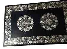 4'x2' Black Marble Dining Table Top Mother of Pearl Inlay Mosaic Furniture H2701