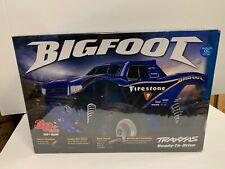 "Traxxas Bigfoot RC Monster Truck ""Firestone"" Blue version - NEW - RTR - Rare"