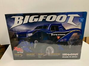 "Traxxas Bigfoot RC Monster Truck ""Firestone"" Blue version - NEW - RTR - Rare"