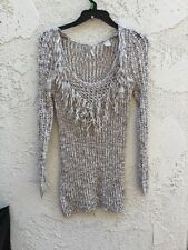Gimmicks BKE Beige Knit Women's Pull Over Sweater Size Medium