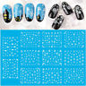 11X Christmas Nail Art Stickers Snowflakes & Cute Snowmen Decals Water Transfer