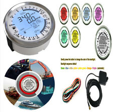 85MM DIGITAL 6 in 1 CAR GPS SPEEDOMETER TACHOMETER OIL PRESSURE Mph Kmh or Knots