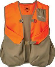 Field & Stream Men's Upland Hunting Shooting Vest, Light Brown/Orange, M/L - NEW