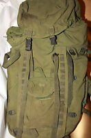 Genuine British Army Olive Bergen Rucksack100 L No pouches Grade2 Long see descr