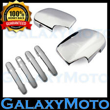 06-12 Toyota RAV4 Triple Chrome Mirror+4 Door Handle+No PSG Keyhole Cover Combo