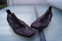 RIEKER Damen Schuhe Pumps Stiefelette Leder vintage braun gefüttert Gr.37 TOP