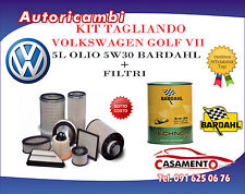 KIT TAGLIANDO 5L BARDHAL 5W30 +FILTRI VW GOLF VII 2.0 TDI 110KW DAL 08/12 IN POI