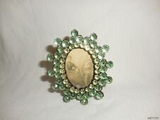 """2"""" x 1.5"""" Plastic Light Green Rhinestone Look Picture Frame Heavy Weight"""
