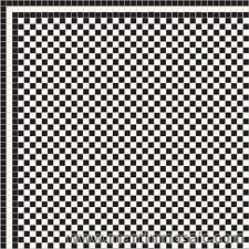 Mosaic Victorian floor tiles  - white & black  £57.00 per sqm²