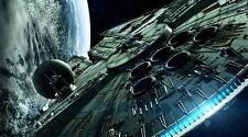 "Star Wars VII Millennium Falcon - 42"" x 24"" LARGE WALL POSTER PRINT NEW"