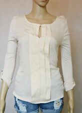 BNWT Corporate Blouse 8 S Chiffon Front Long Sleeves Pink Light Pleated Front