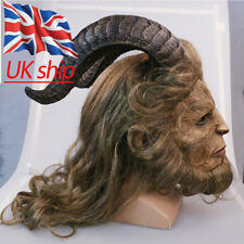 Beauty And The Beast Mask Cosplay Prince Mask Horror Beast Mask Long Wig Props