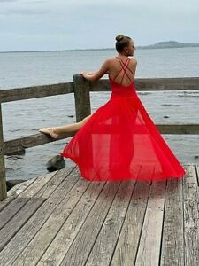 Dance Leotard and mesh Skirt   Red Ballet jazz- Clearance whilst stocks last