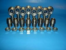 """Economy 4-Link Rod Ends Kit 3/4"""" x 3/4""""-16 Heim Joints (Fits 1-1/4 x.120 Tubing)"""