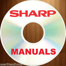 Best SHARP Copier Fax SERVICE MANUALS & Parts Manual Collection on a CD
