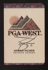 Jacque Jones signed autograph auto PGA West Scorecard