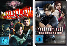 2 DVDs * RESIDENT EVIL : DEGENERATION + DAMNATION IM SET # NEU OVP <