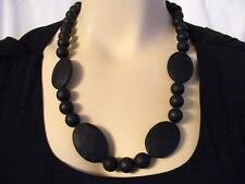 "$37 Chewbeads *Perry* Teether Necklace Black Soft Silicone Beaded  32"" Long"