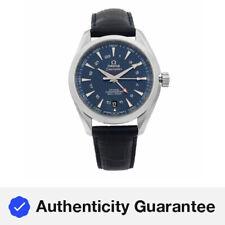 Omega Seamaster Aqua Terra GMT Esfera Azul Acero Reloj para hombre 231.13.43.22.03.001