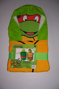 "Teenage Mutant Ninja Turtles TMNT 100% Cotton Hooded Towel Pancho 22"" x 22"" NWT!"