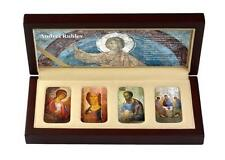 Niue 2012 $2 ANDREI RUBLEV 4 x 1 Oz Silver Coin ICON SET with CONVEX SHAPE
