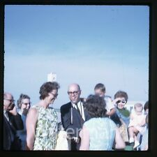 1960s 35mm amateur photo slide Man with Camera airport