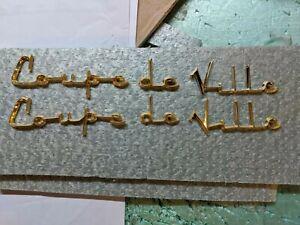 CADILLAC 1956 gold Coop DeVille fender script nice letters