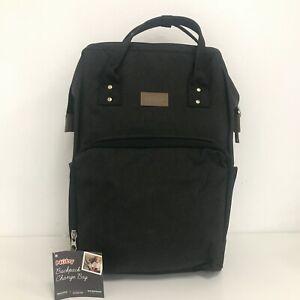 New Nuby Backpack Baby Change Bag Large Padded Mat Waterproof Grey 421221