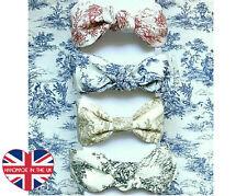 Top Knot Headband-French Toile De Jouy Fabric-Turban-Handmade in London