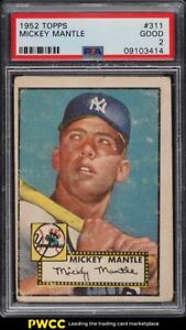 1952 Topps Mickey Mantle #311 PSA 2 GD