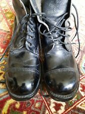British Army Black Leather Drill/Parade Hobnail boots -  Size 9 M. Used