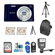 Sony Cyber-shot DSC-W800 Digital Camera (Black)  Bundle Backpack with Sandisk