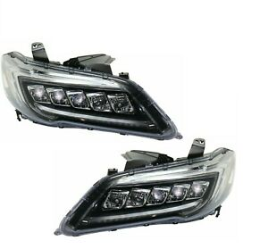 FITS ACURA RDX 2016-2018 LED HEADLIGHTS HEAD LIGHTS FRONT LAMPS W/BULBS PAIR