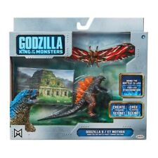 Godzilla & Mothra Jakks 9cm Action Figures Toys Play Set BRAND NEW In STOCK