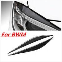 Carbon Headlight EyeLid Cover Eyebrows For BMW F32 F33 F36 F82 M4 M3 2014-2018
