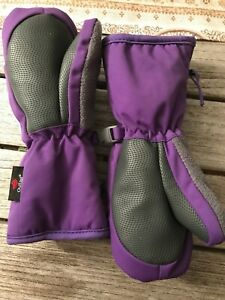 HEAD Jr   Purple Pink Girls Insulated Ski Mittens Winter Gloves  LN warm winter