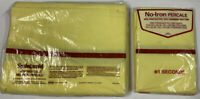 Vintage Springmaid Wondercale No Iron Percale Double Flat Sheet & 2 Pillowcases