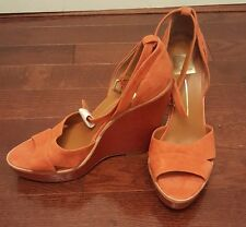 New Dolce Vita Anthropologie Suede High Ankle Strap 'Paiva' Wedges Size 9.5
