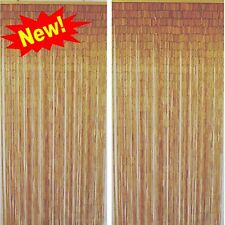 Natural Bamboo Handmade Beaded Quad Curtain Beads Window Door Room Divider