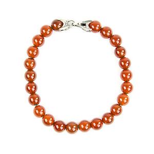 DAVID YURMAN Men's Carnelian Spiritual Bead Bracelet $395 NEW