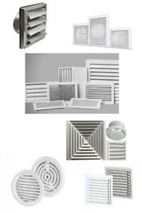 Air Vent Grille Cover Wall Ceiling Ducting or Adjustable or Gravity Flaps