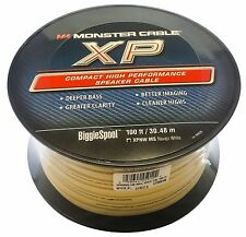 Monster Cable XP High Performance Speaker Wire in Navajo White 100 Ft - 16 Gauge