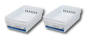 Plastic Rectangular Storage Trays Baskets Organization Bundle - Set of 4