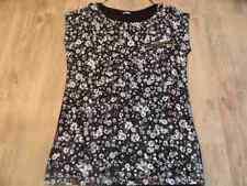 PIMKIE schönes Shirt m bedruckter Spitze Blumenmuster schwarz Gr. S NEUw. VS117