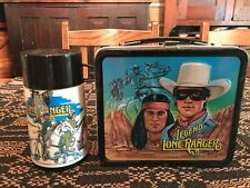 VINTAGE THE LEGEND OF THE LONE RANGER LUNCHBOX WITH THERMOS