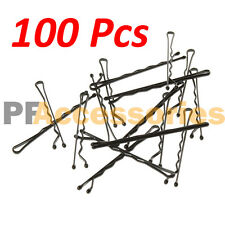 """100 Pcs Regural 2"""" inch Bobby Pins Hair Grips Clips Classic Style Black LOT 100"""