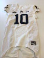 Game Worn Used Pittsburgh Panthers Pitt Football Jersey Nike Size 40 #10