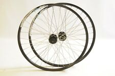 "PAIR 26"" MTB 559 DP20 DUAL WALL ALEX RIM SHIMANO DEORE FH-M525 DISC WHEELS"
